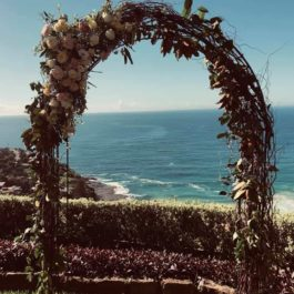 Rustic Arch with flowers