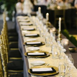 4mt Gold Table Runner