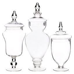 Assorted Candy Jars