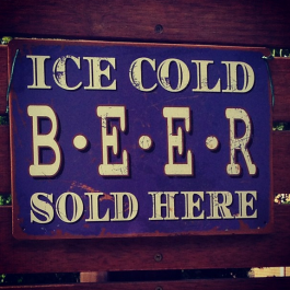 Metal Beer Sign