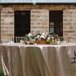 Sequin Circular Table Cloth