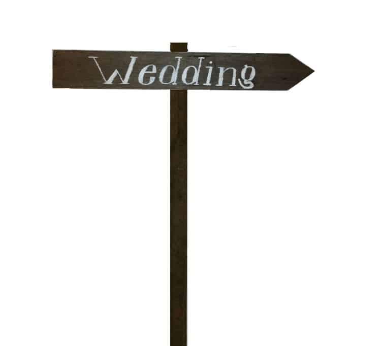 Wooden Arrow Signage