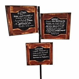 Wooden Menu Sign