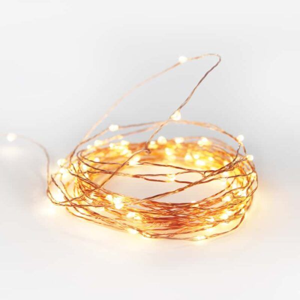 Copper Fairy Lights 10mts