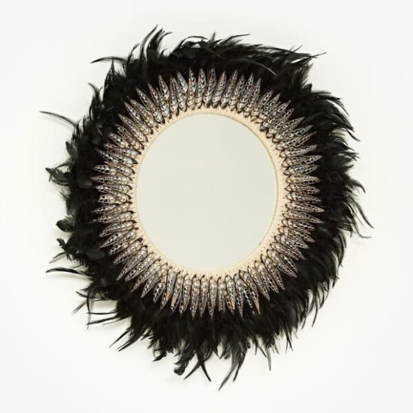 Juju Hat Feather Mirror Black