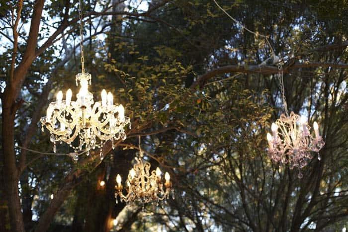 Chandeliers In Outdoor Space