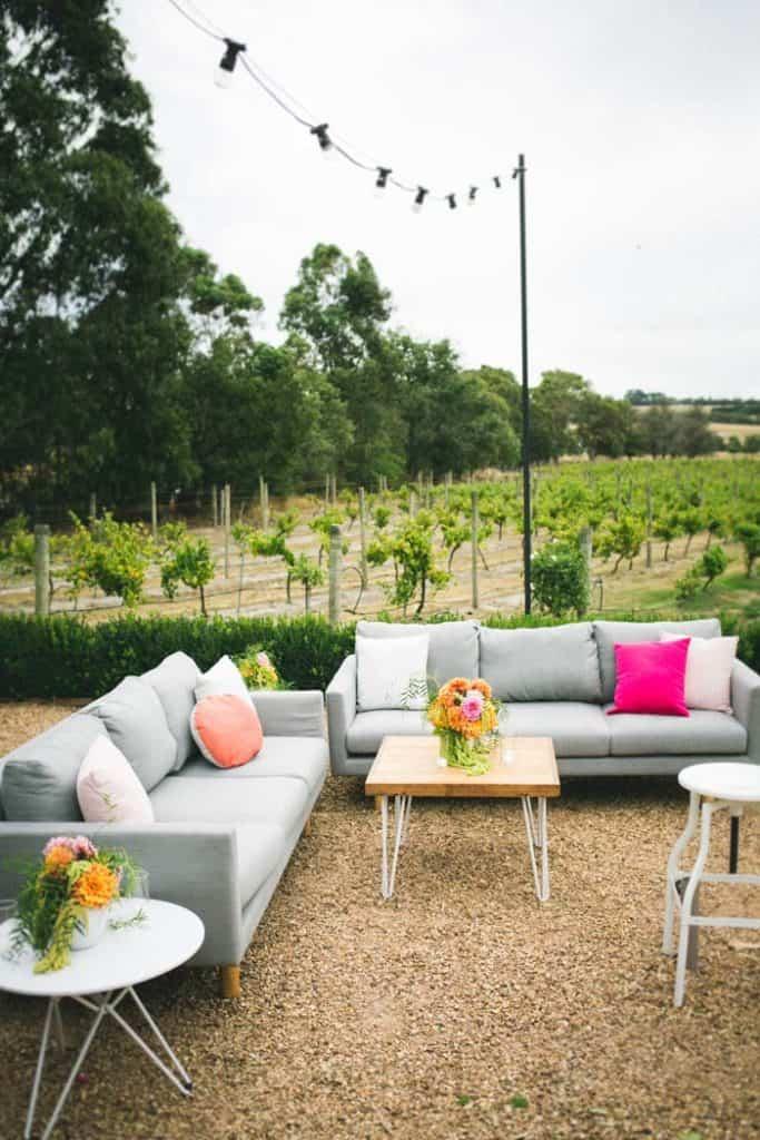 Furniture In Vineyard Garden
