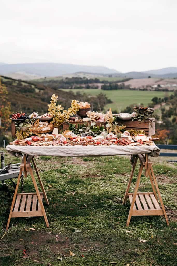 Outdooring Wedding Food
